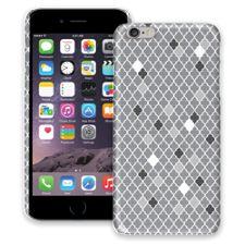 Speckled Grey Quatrefoil iPhone 6 Plus ColorStrong Slim-Pro Case