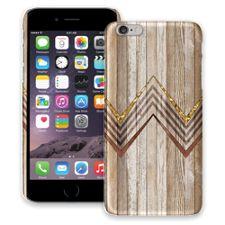 Retro Brown Wood Chevron iPhone 6 Plus ColorStrong Slim-Pro Case