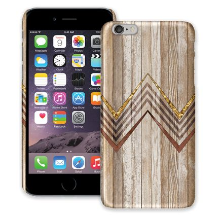 Retro Brown Wood Chevron iPhone 6 Plus ColorStrong Slim-Pro Case