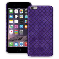 Purple & Black Quatrefoil iPhone 6 Plus ColorStrong Slim-Pro Case