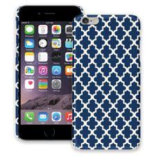 Keyhole Quatrefoil Navy Blue iPhone 6 Plus ColorStrong Slim-Pro Case