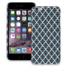 Keyhole Quatrefoil Grey Blue iPhone 6 Plus ColorStrong Slim-Pro Case