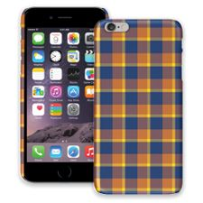Blue & Yellow Plaid iPhone 6 Plus ColorStrong Slim-Pro Case