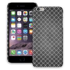 Grey on Grey Quatrefoil Light iPhone 6 Plus ColorStrong Slim-Pro Case