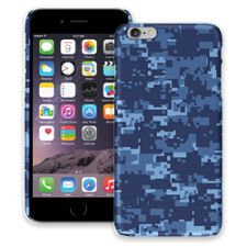 Blue Digital Camouflage iPhone 6 Plus ColorStrong Slim-Pro Case