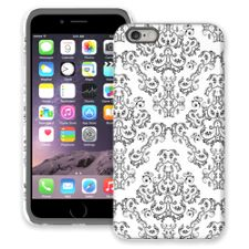 Dainty Black and White Damask iPhone 6 Plus ColorStrong Cush-Pro Case