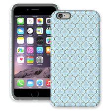Golden Blue Quatrefoil iPhone 6 Plus ColorStrong Cush-Pro Case
