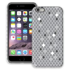 Speckled Grey Quatrefoil iPhone 6 Plus ColorStrong Cush-Pro Case
