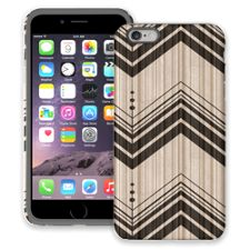 Black Tribal Chevron iPhone 6 Plus ColorStrong Cush-Pro Case