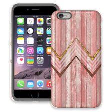 Retro Pink Wood Chevron iPhone 6 Plus ColorStrong Cush-Pro Case