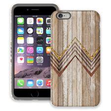 Retro Brown Wood Chevron iPhone 6 Plus ColorStrong Cush-Pro Case
