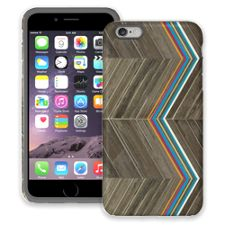 Rainbow Refraction Brown Wood iPhone 6 Plus ColorStrong Cush-Pro Case