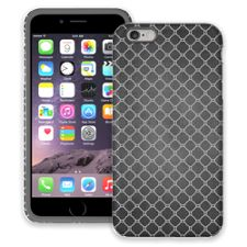 Grey on Grey Quatrefoil Light iPhone 6 Plus ColorStrong Cush-Pro Case