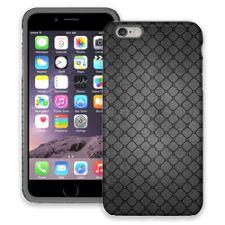 Grey on Grey Quatrefoil Dark iPhone 6 Plus ColorStrong Cush-Pro Case