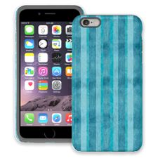 Distressed Blue Stripes iPhone 6 Plus ColorStrong Cush-Pro Case