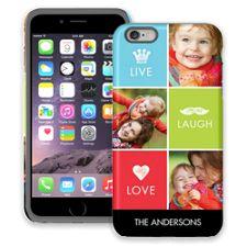 Bright Live Laugh Love iPhone 6 Plus ColorStrong Cush-Pro Case