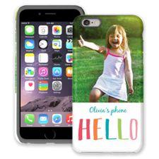 Crayon Hello iPhone 6 Plus ColorStrong Cush-Pro Case