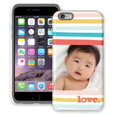 Wavy Stripes iPhone 6 Plus ColorStrong Cush-Pro Case