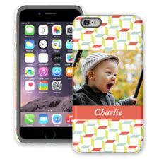 Retro Blocks iPhone 6 Plus ColorStrong Cush-Pro Case