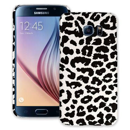 Black and White Leopard Samsung Galaxy S6 ColorStrong Slim-Pro Case
