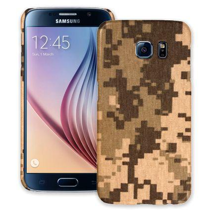 Digital Desert Camouflage Samsung Galaxy S6 ColorStrong Slim-Pro Case