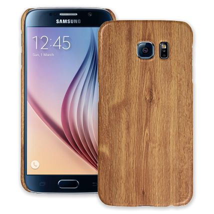Brown Maple Samsung Galaxy S6 ColorStrong Slim-Pro Case
