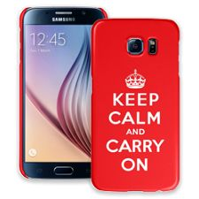 Keep Calm and Carry On Samsung Galaxy S6 ColorStrong Slim-Pro Case