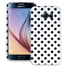 Black Polka Dot on White Samsung Galaxy S6 ColorStrong Slim-Pro Case