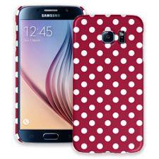 White Polka Dot on Crimson Samsung Galaxy S6 ColorStrong Slim-Pro Case