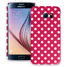 White Polka Dot on Berry Samsung Galaxy S6 ColorStrong Slim-Pro Case