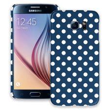 White Polka Dot on Navy Samsung Galaxy S6 ColorStrong Slim-Pro Case