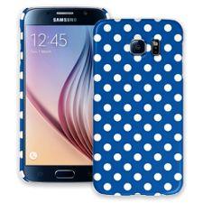 White Polka Dot on Royal Blue Samsung Galaxy S6 ColorStrong Slim-Pro Case
