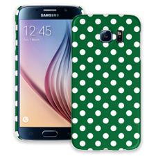 White Polka Dot on Forest Green Samsung Galaxy S6 ColorStrong Slim-Pro Case