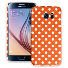 White Polka Dot on Tangerine Samsung Galaxy S6 ColorStrong Slim-Pro Case