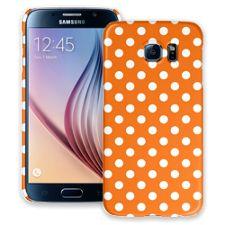 White Polka Dot on Orange Samsung Galaxy S6 ColorStrong Slim-Pro Case