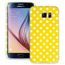 White Polka Dot on Sunshine Samsung Galaxy S6 ColorStrong Slim-Pro Case