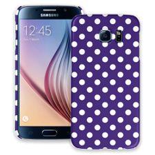 White Polka Dot on Deep Purple Samsung Galaxy S6 ColorStrong Slim-Pro Case