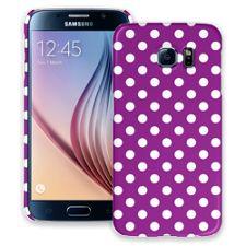 White Polka Dot on Purple Samsung Galaxy S6 ColorStrong Slim-Pro Case