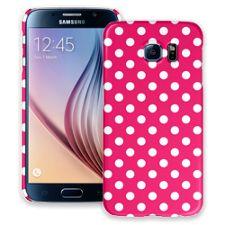 White Polka Dot on Raspberry Samsung Galaxy S6 ColorStrong Slim-Pro Case