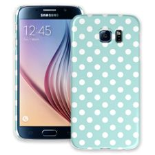 White Polka Dot on Mint Samsung Galaxy S6 ColorStrong Slim-Pro Case