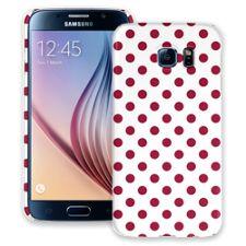 Crimson Polka Dot on White Samsung Galaxy S6 ColorStrong Slim-Pro Case