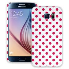 Berry Polka Dot on White Samsung Galaxy S6 ColorStrong Slim-Pro Case