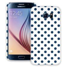 Navy Polka Dot on White Samsung Galaxy S6 ColorStrong Slim-Pro Case