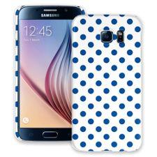 Royal Blue Polka Dot on White Samsung Galaxy S6 ColorStrong Slim-Pro Case