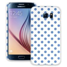Periwinkle Polka Dot on White Samsung Galaxy S6 ColorStrong Slim-Pro Case