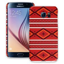 Red and White Tribal Samsung Galaxy S6 ColorStrong Slim-Pro Case