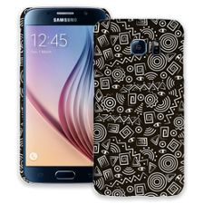 Black and White Tribal Samsung Galaxy S6 ColorStrong Slim-Pro Case