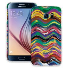 Wavy Paint Swirls Samsung Galaxy S6 ColorStrong Slim-Pro Case