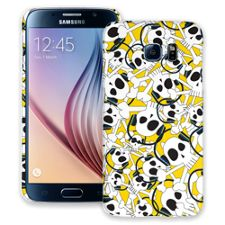 Skull Prince with Beats on Yellow Samsung Galaxy S6 ColorStrong Slim-Pro Case