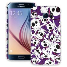 Skull Prince with Beats on Purple Samsung Galaxy S6 ColorStrong Slim-Pro Case